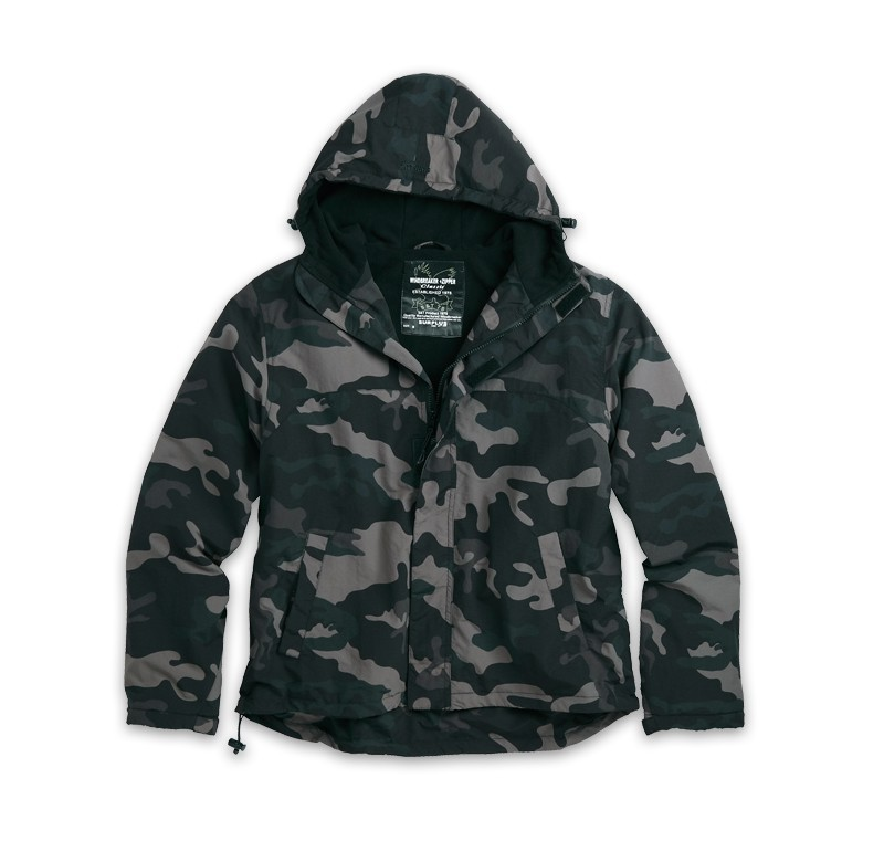 Яке Windbreaker Zipper Surplus Black Camo
