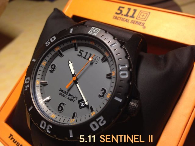 Часовник 5.11 Sentinel II Black/Gray