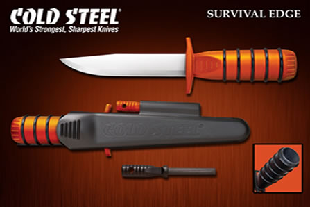 Нож за оцеляване Cold Steel Survival Edge Orange