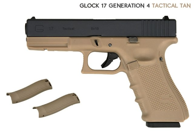 Airsoft пистолет Glock 17 G4 Tactical Tan