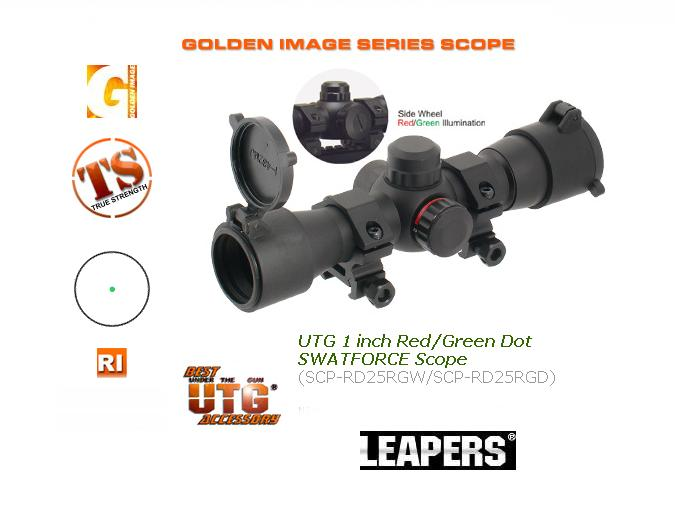 Бързомерец Leapers UTG 1 inch Red/Green Dot SWATFORCE Scope