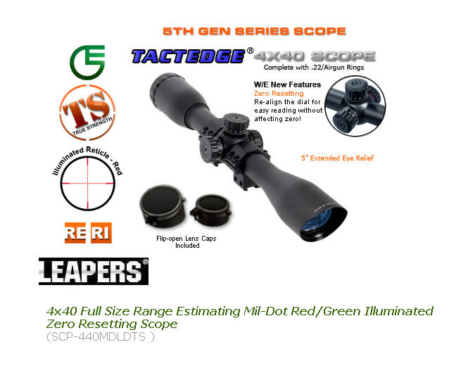 Оптика Leapers USA 4X40 Full Size Scope