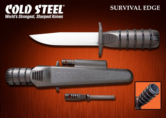 Нож за оцеляване Cold Steel Survival Edge Black