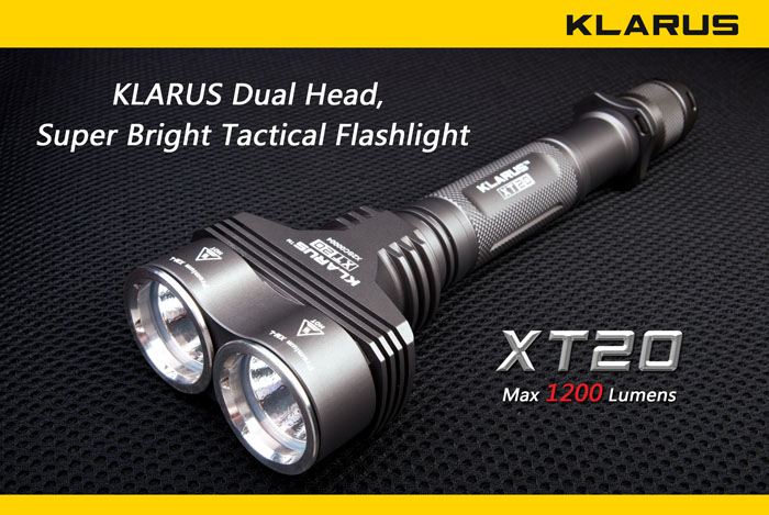Фенер KLARUS XT20 Tactical 1200 Lumens