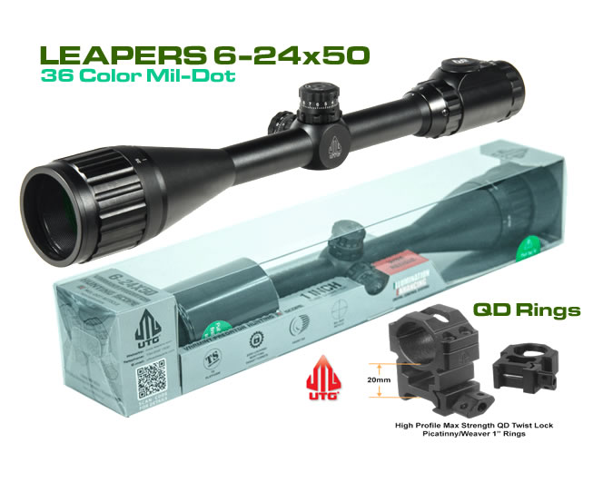 Оптика Leapers UTG 6-24X50 36 Color HS