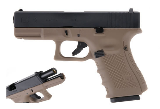 Airsoft пистолет Glock 19 G4 Tactical Tan