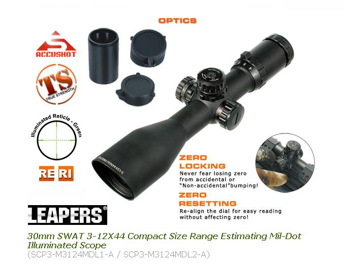 Оптика Leapers 3-12X44 Mini Size Mil-Dot Illuminated Scope