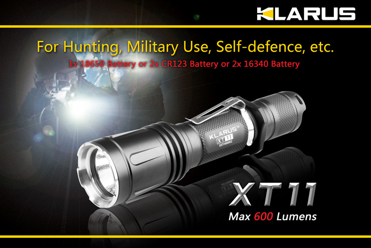 Фенер KLARUS XT11 Tactical 600 Lumens
